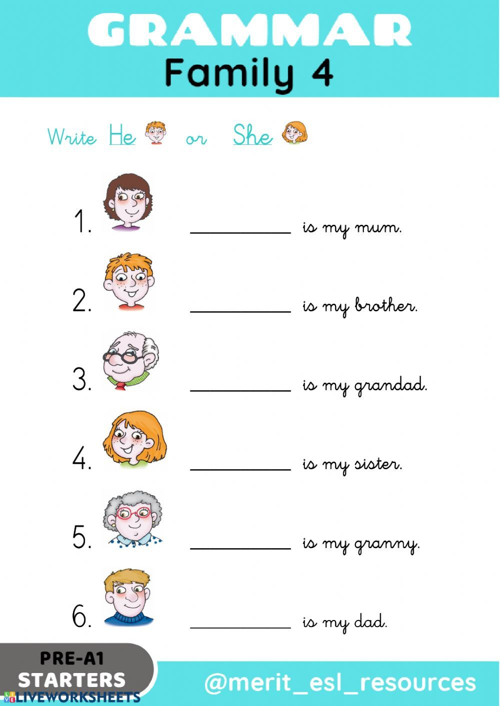 medium resolution of The family interactive and downloadable worksheet. You can do the exercises  on…   Family worksheet