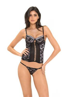 Push-up bustier + panty