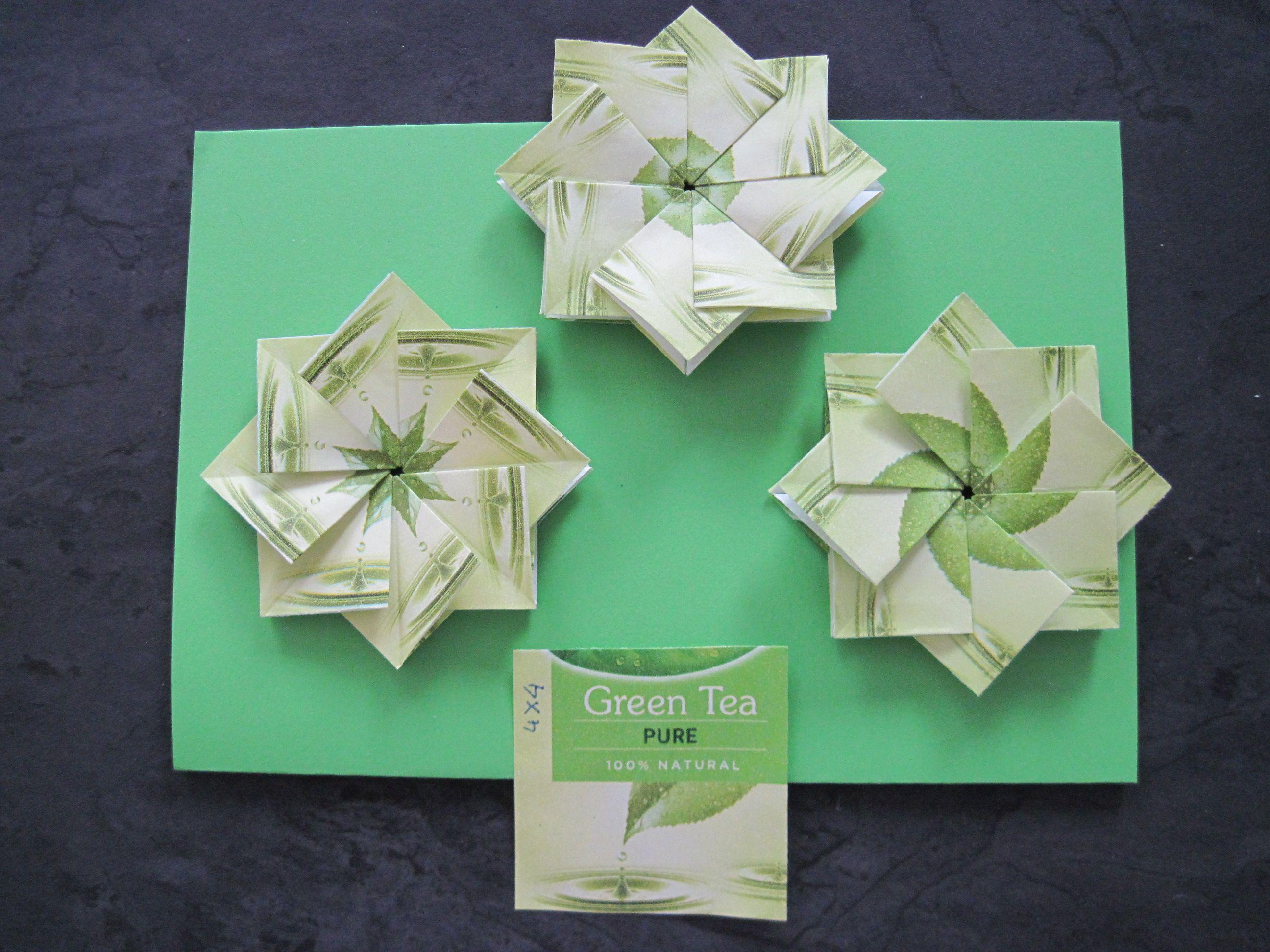 Pickwick theezakjes Green Tea Pure - 4x4cm
