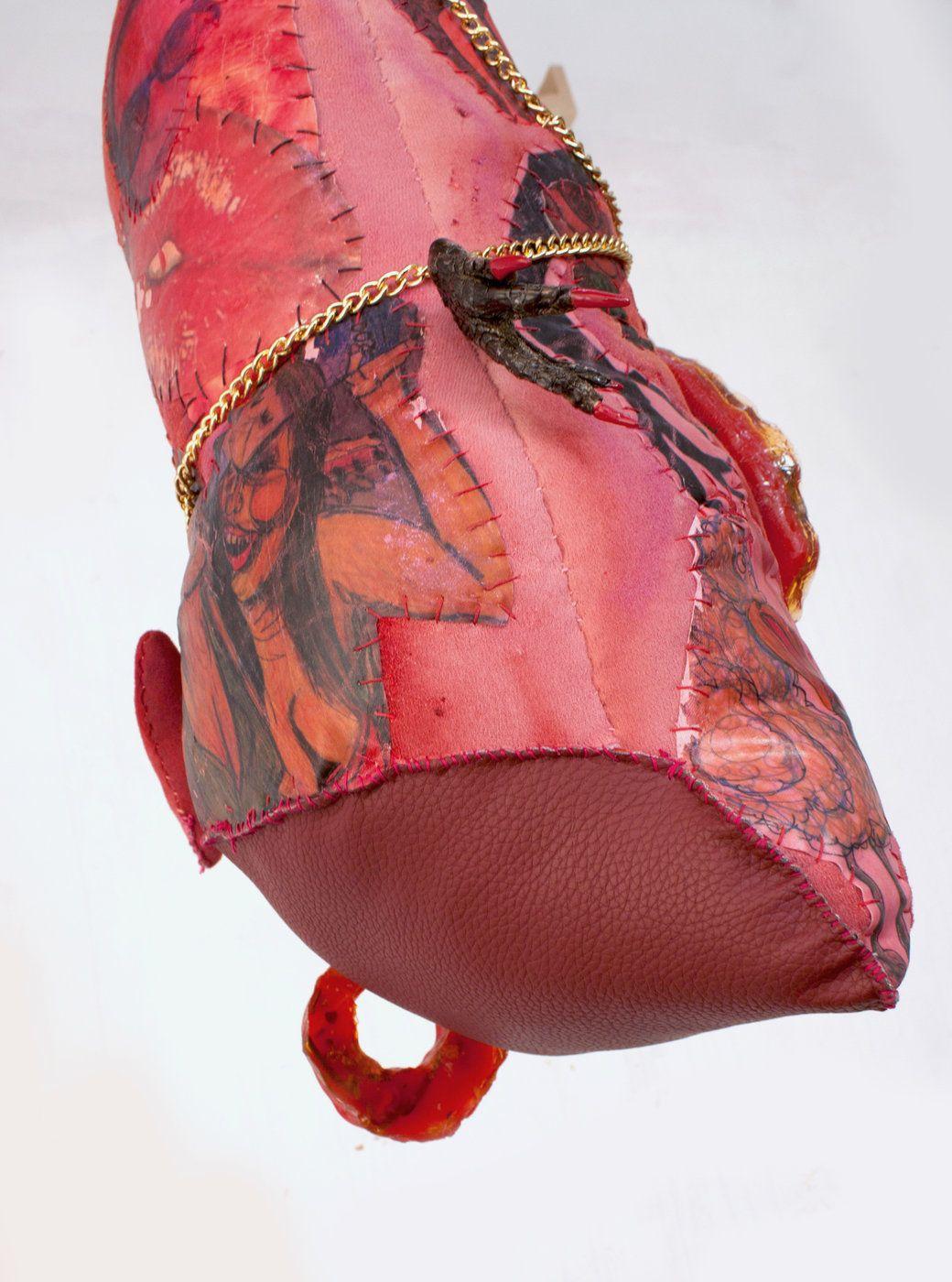 Athena Papadopoulos Wolf Whistles Detail Athena Bucket Bag Contemporary Art