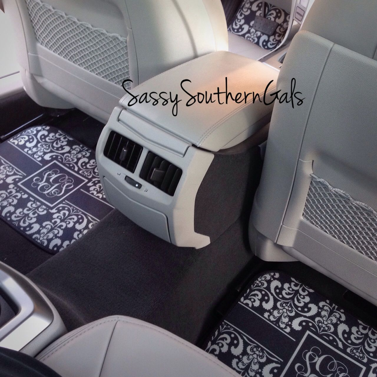 monogram best ideas gals pattern and personalized white mats decorating monogrammed design with appealing southern car lovable acessories accessories sassy floor chevron in grey