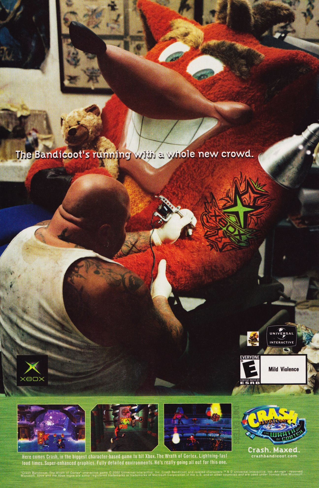 Are you getting a tat like Crash? (2002) xbox bitstory