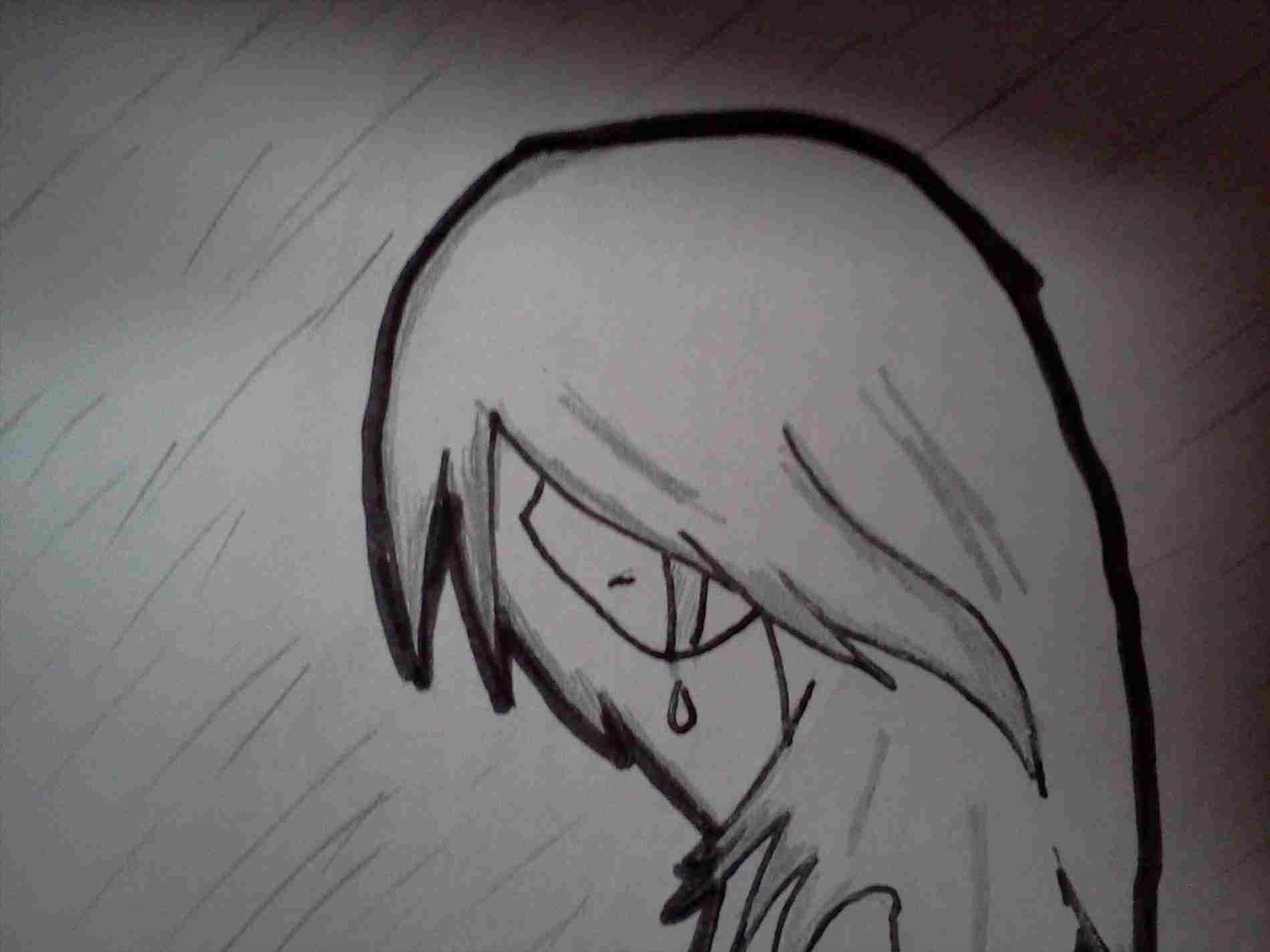 Rarhpterestcom cute sad anime girl crying in the