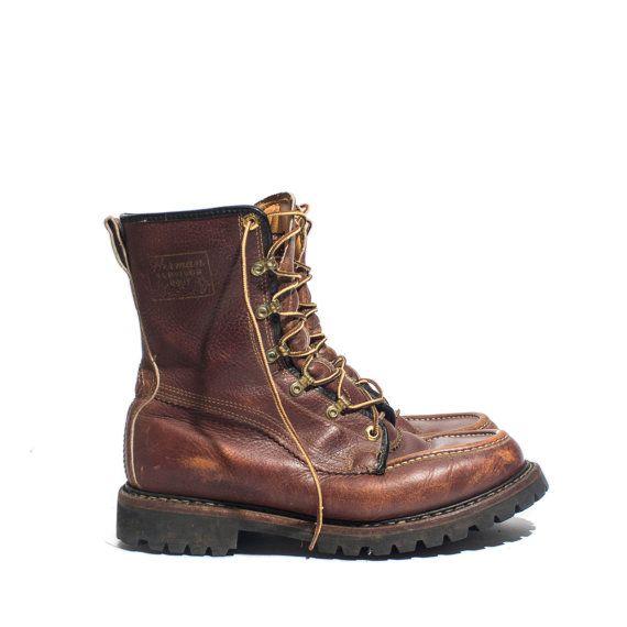 1afa177aa85 Vintage Herman Survivor Boots Insulated Raised Moc Toe Work/Hunting ...