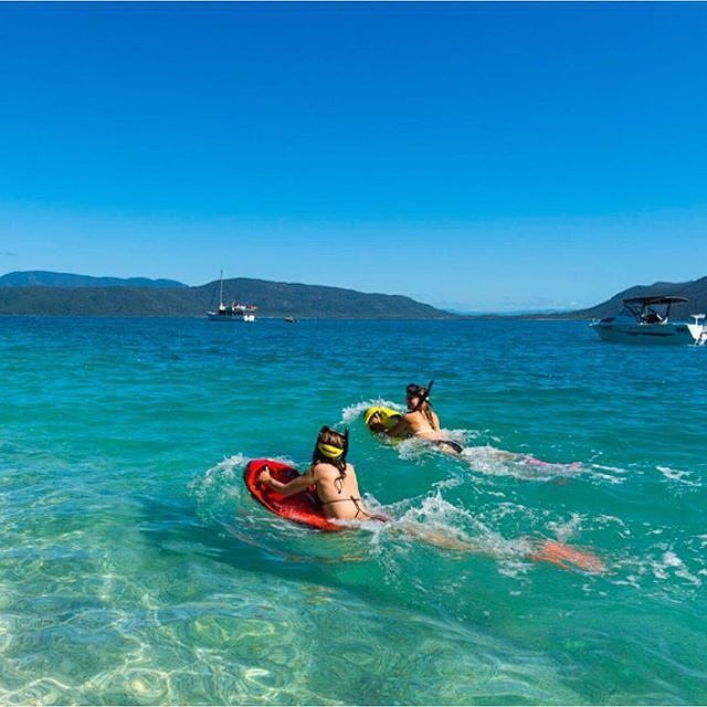 Get your James Bond on while adventuring the #GreatBarrierReef at @fitzroyisland with @seabobaustralia #exploreTNQ by tropicalnorthqueensland http://ift.tt/1UokkV2