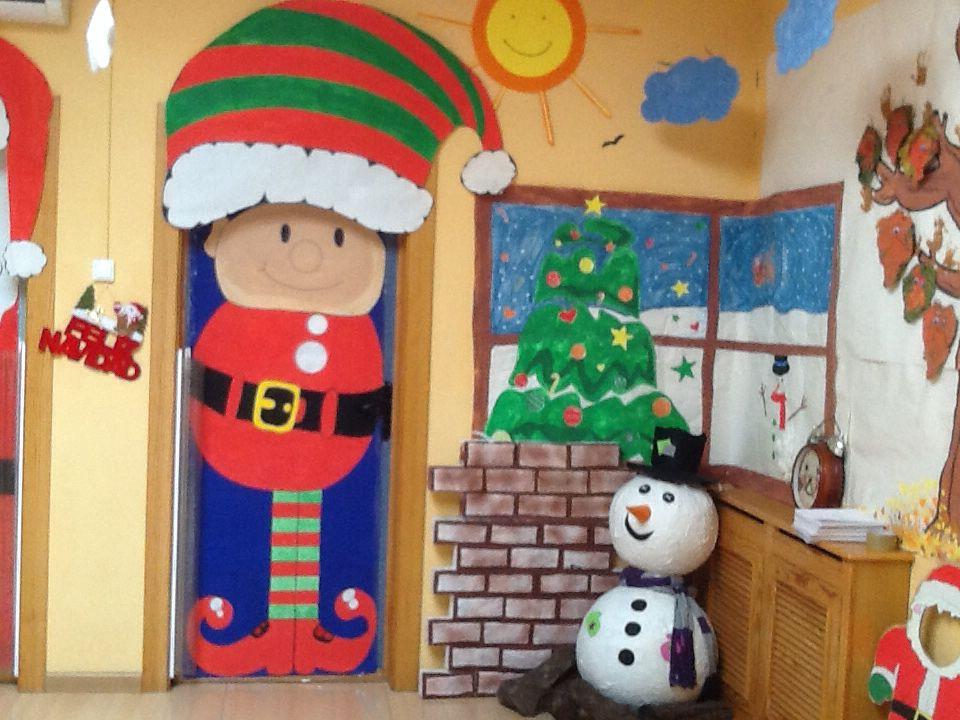 Navidad betty pinterest navidad de puerta y puerta for Puertas decoradas santa claus