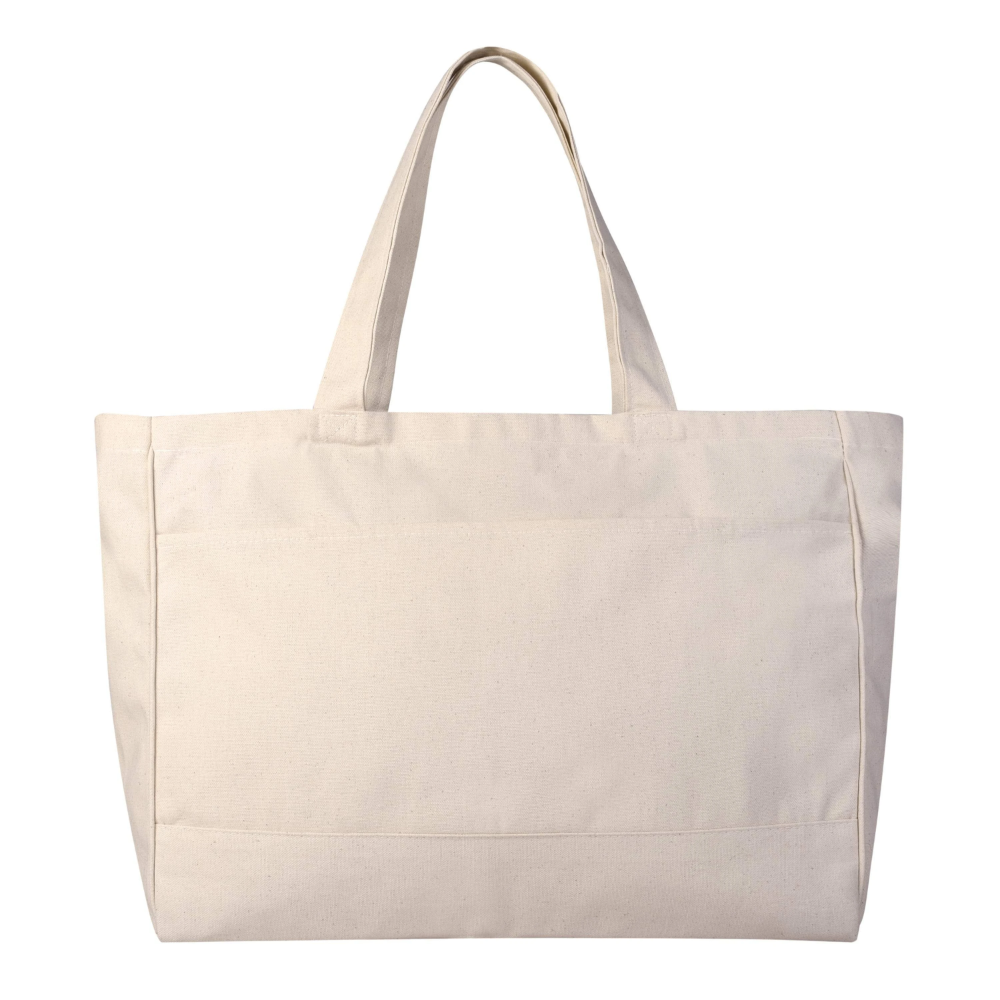 Sturdy Wholesale Canvas Tote Bags With Zippered Pocket Large