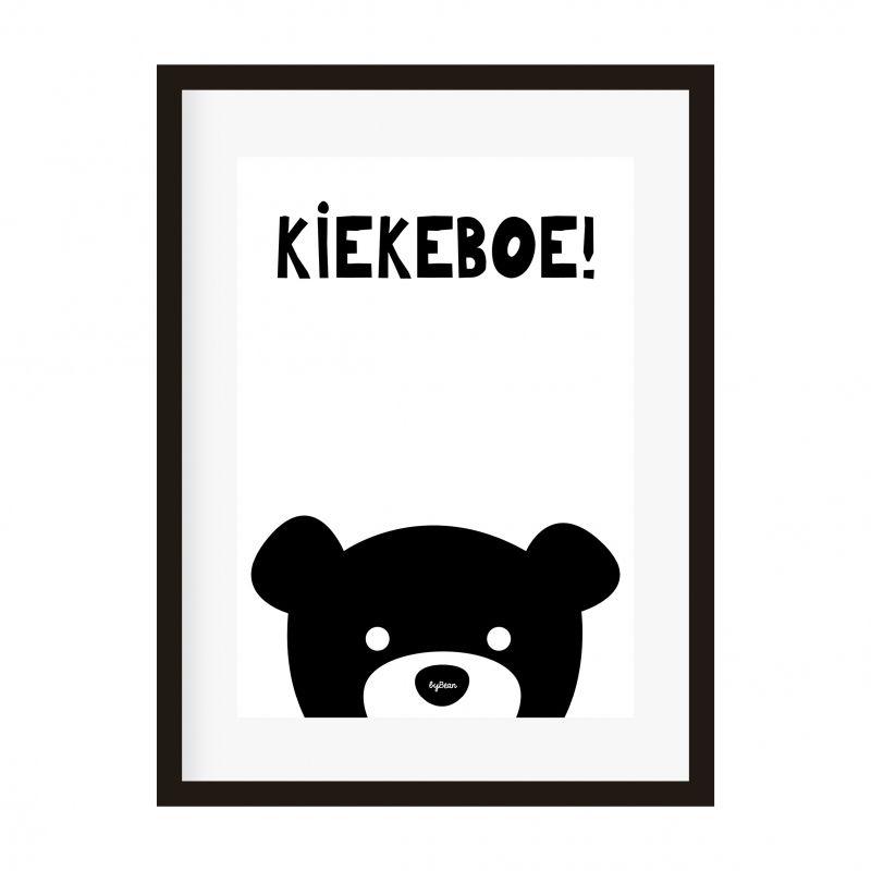poster a4 beer kiekeboe decoratie babykamer en kinderkamer zwart, Deco ideeën
