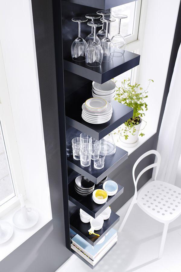 Lack wall shelf unit white wall shelf unit drinkware for Ikea wine shelf