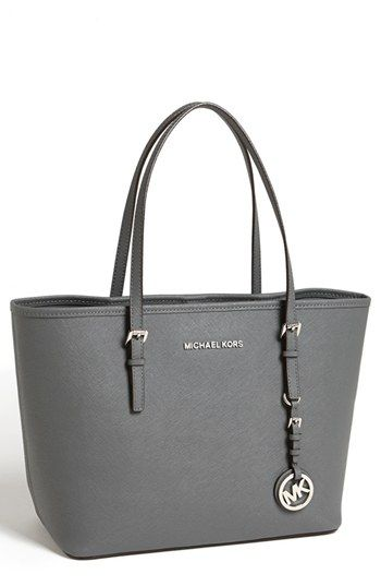 502cd3caf140 MICHAEL Michael Kors 'Jet Set - Small' Travel Tote available at #Nordstrom  Dark Slate