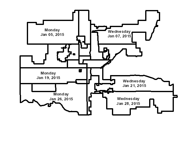 City of Oklahoma City | Bulky Waste Pickup: schedule of big trash ...