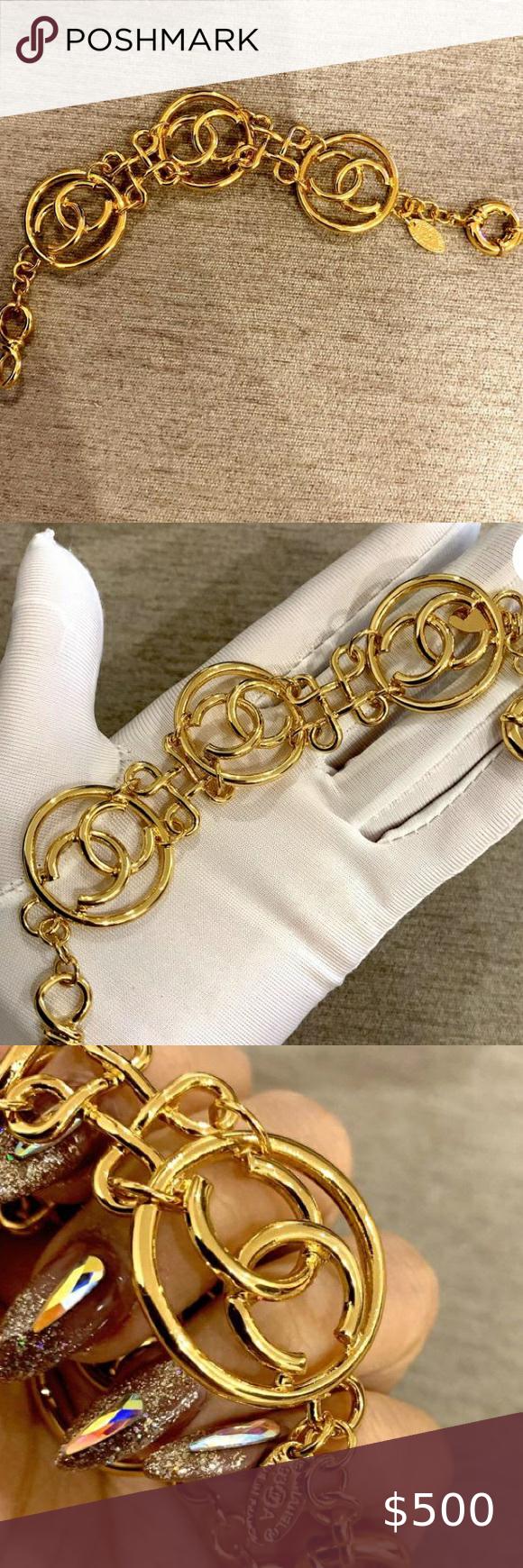Chanel Vintage Gold Bracelet Vintage Gold Bracelet Vintage Chanel Gold Bracelet