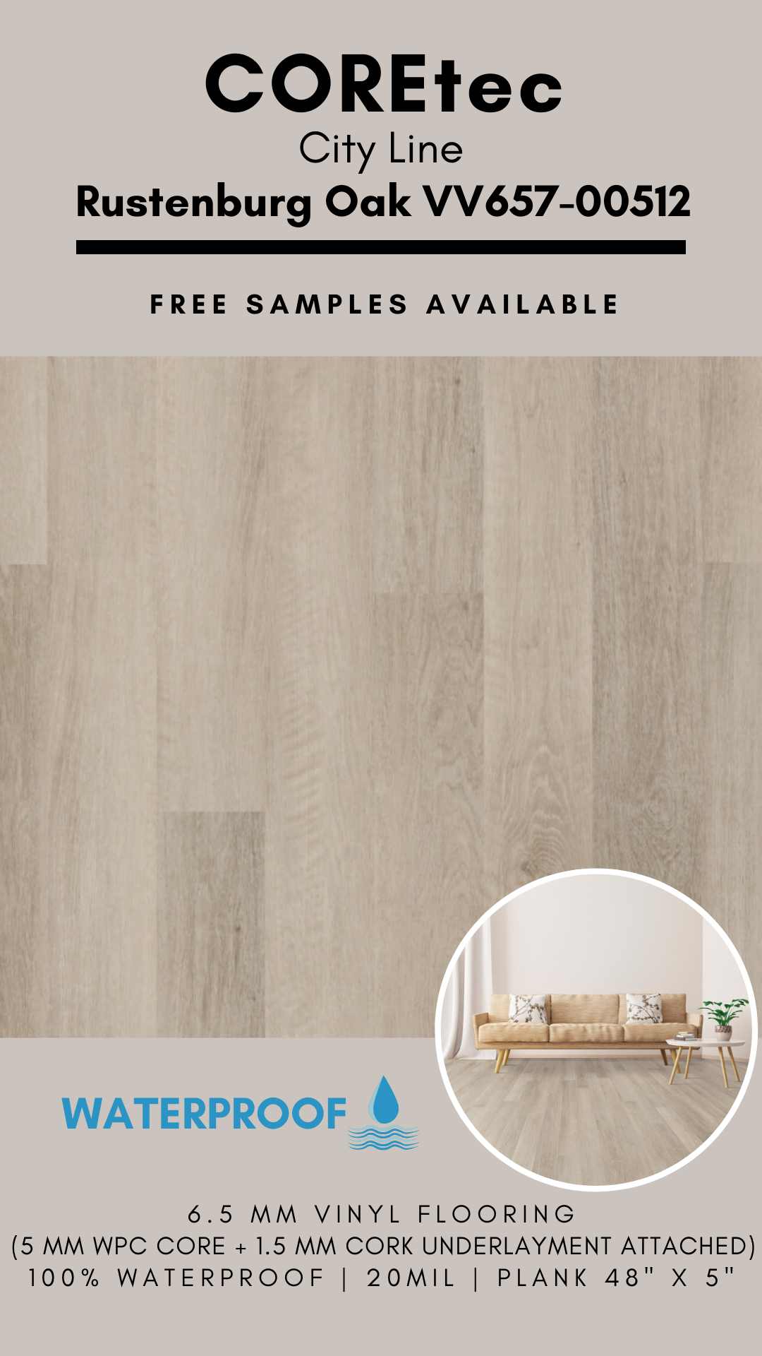 Coretec Plus 5 City Line Rustenburg Oak Vinyl Flooring In 2020 Vinyl Flooring Flooring Oak