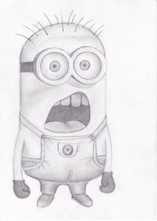 Minion by BrunaDM on DeviantArt  Easy Minion Pencil Drawings