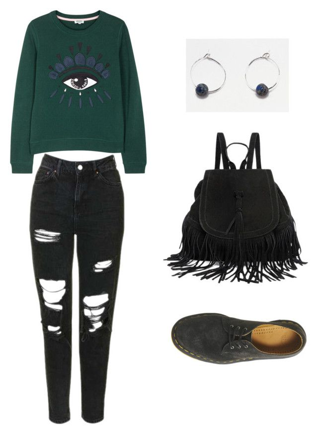 """""""chilled"""" by anais-rose on Polyvore featuring Kenzo, Topshop and Dr. Martens"""
