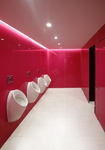 wow look at these urinals - Fushia  Eegoo Offices by dEEP Architects