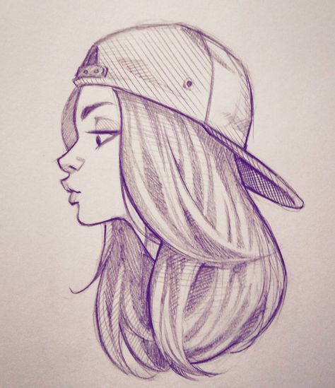 Cameron mark on instagram squeezing in some sketch time tonight doodle sketch illustration art drawing girl backwardshat cameronmarkart