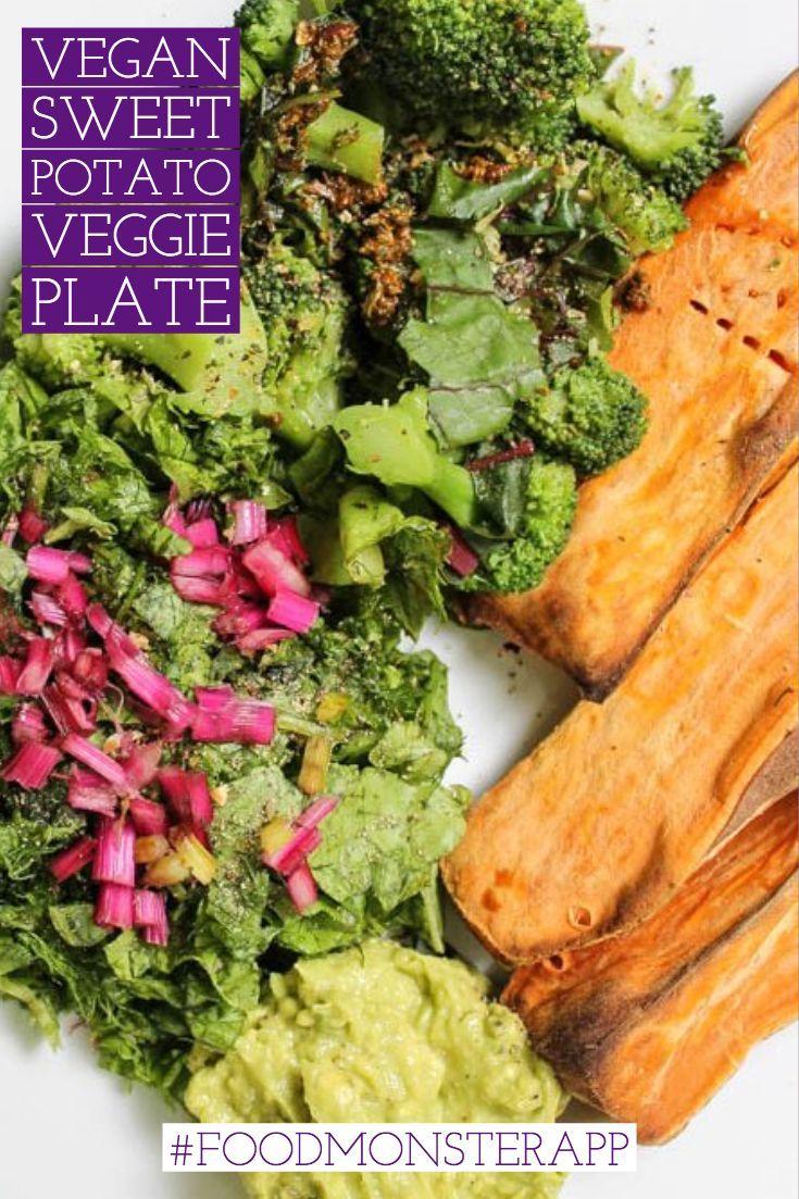 Sweet Potato Veggie Plate Vegan In 2019 Best Vegan