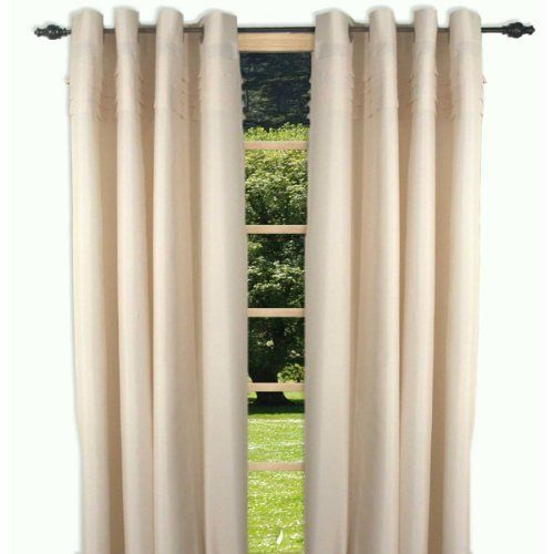 """84"""" Long Ivory Oxford Solid Color Grommet Top Curtain Panel by Ricardo Trading. $27.99. 54"""" wide x 84"""" long. Grommet top curtain panel. Cafe, wine, ivory, celadon, aqua.. Save 44% Off!"""