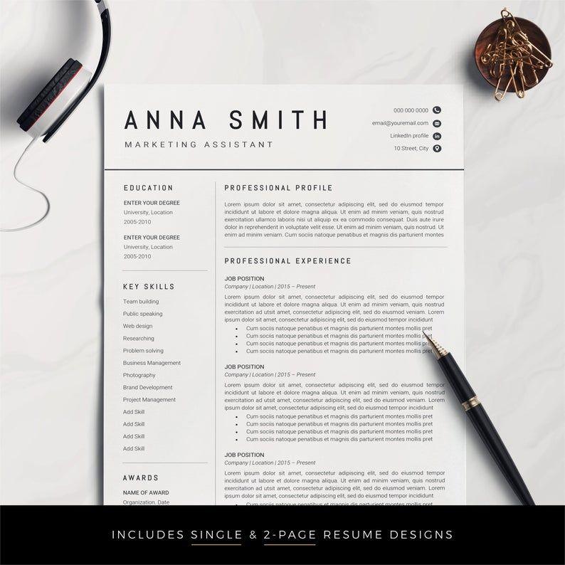Resume Template Professional Resume Cv Template Modern Resume Resume Resume Template Word Creative Resume Cv Resume Design Cv Professionnel Modele De Cv Professionnel Emploi De Reve