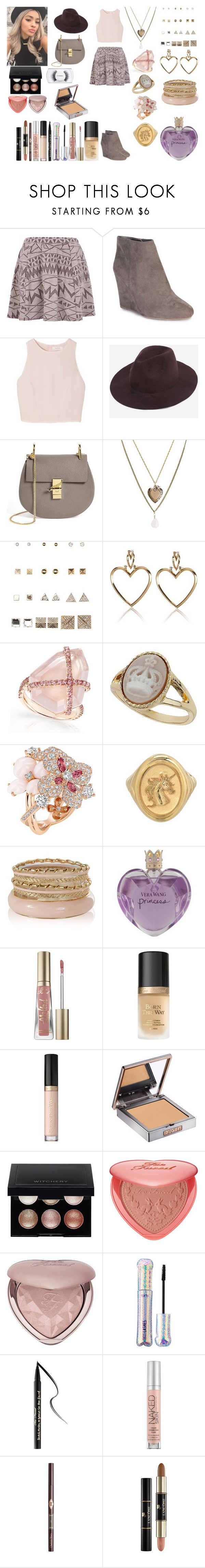 """Untitled #873"" by asiebenthaler ❤ liked on Polyvore featuring River Island, Bamboo, SemSem, Chloé, Aéropostale, Charlotte Russe, Miss Selfridge, Chaumet, Vera Wang and Too Faced Cosmetics"