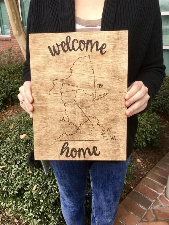 Items similar to Wood Burned Welcome Home Sign ...