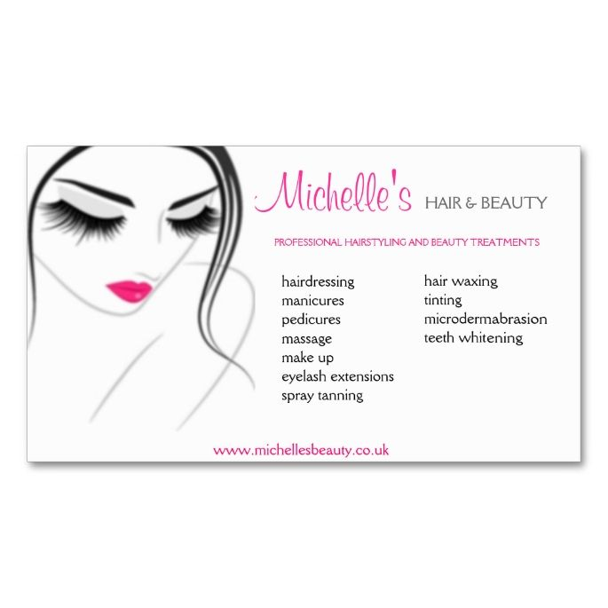 Hair Beauty Salon Business Card Design Zazzle Com Hair And Beauty Salon Beauty Salon Business Cards Beauty Business Cards