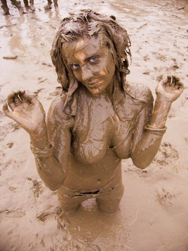 Naked country girls in the mud