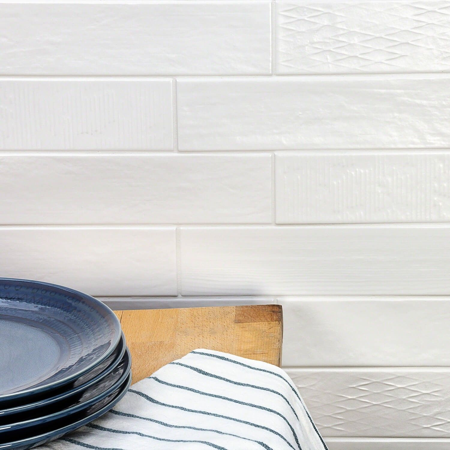 Calloway White 3x10 Matte Ceramic Tile Ceramic Tiles White Subway Tile White Tiles