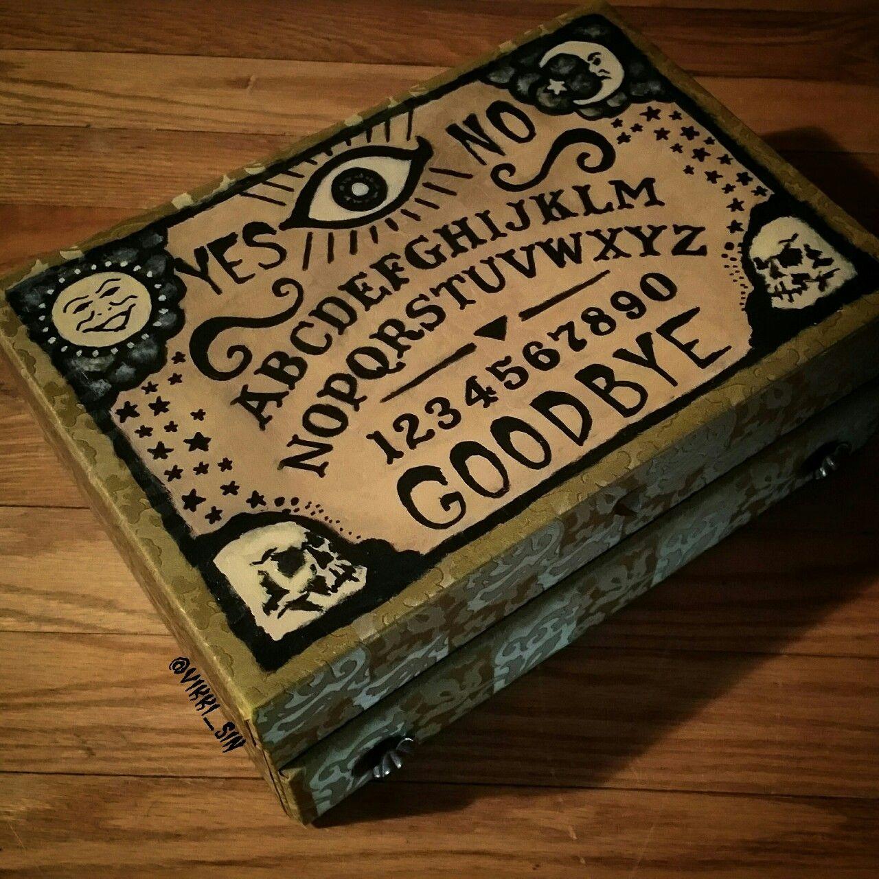 Spirit Ouija Board Vintage Jewelry Box