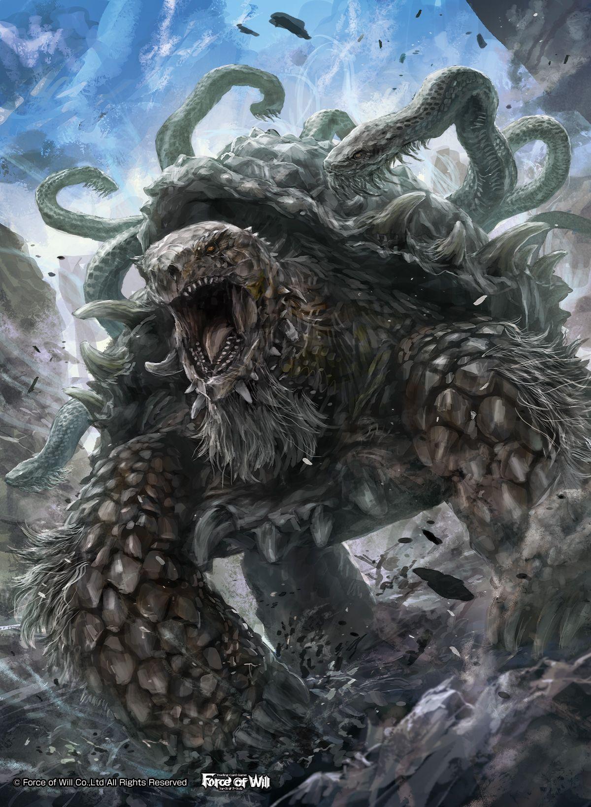 Fow四聖獣 玄武 モンスター 伝説の生き物玄武イラスト