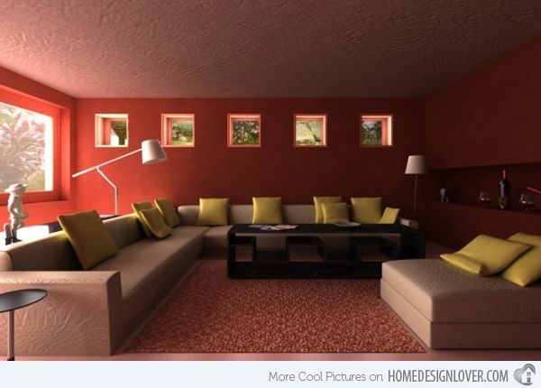Gentil 15 Mesmerizing Maroon Living Room Walls | Home Design Lover