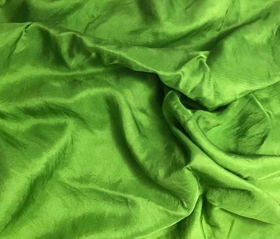 1//4 Yard Hand Dyed SILVER Silk TWILL Fabric