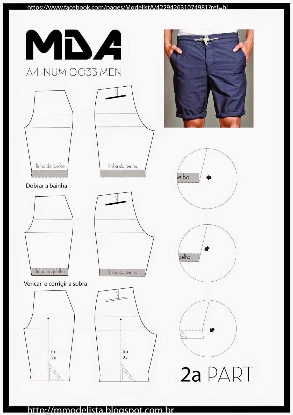 A4 - NUM 0033 - 2part | Herrenschnitte, Herrenkleidung und Freizeithosen