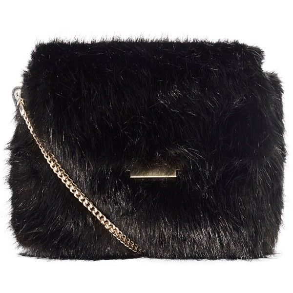 Karen Millen Faux Fur Chain Bag 4501d9512ba8d