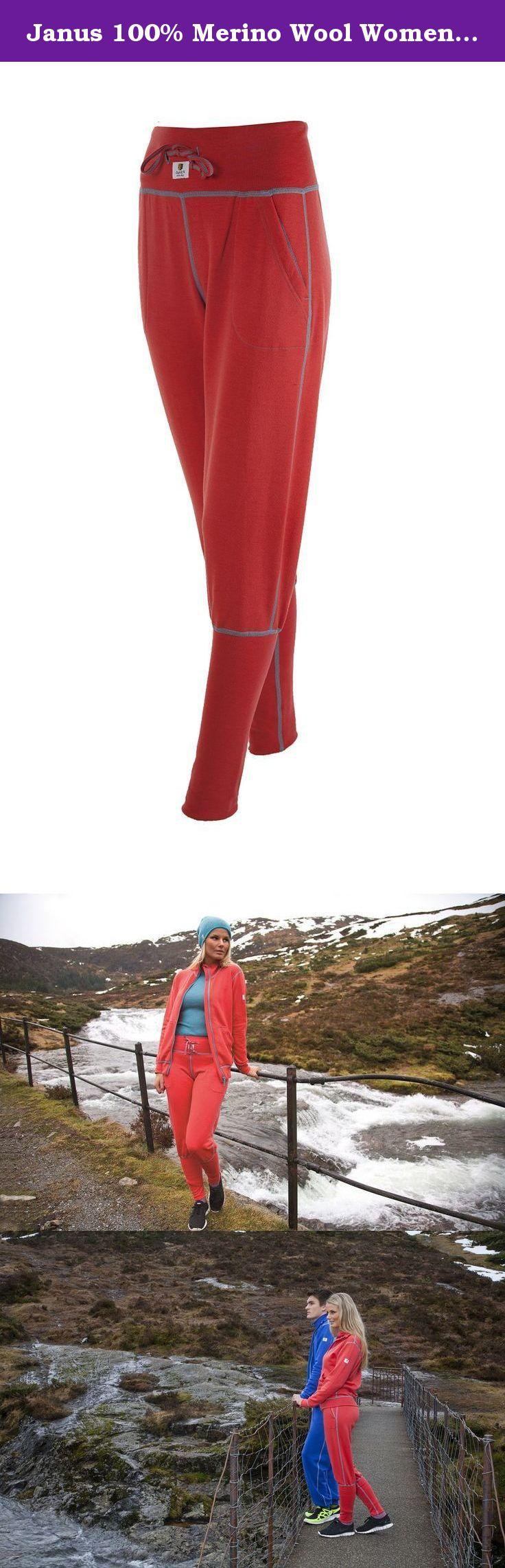 bcf1d385d89 Janus 100% Merino Wool Women's Pants Machine Washable Made in Norway  (Medium, Coral