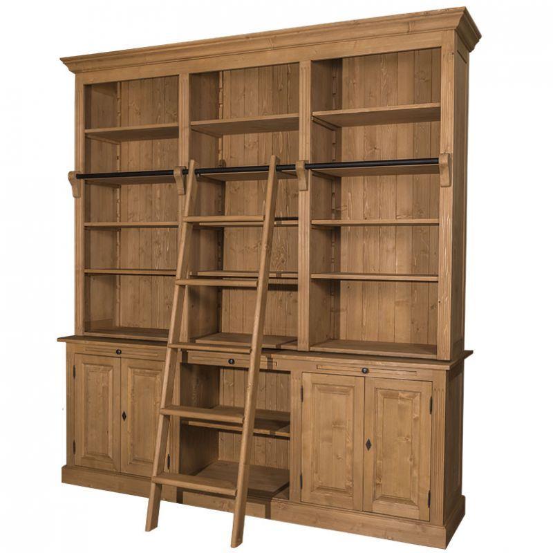 Wohnzimmer landhausstil braun  Massiver Bücherschrank | Pinterest | Wohnzimmer landhausstil ...