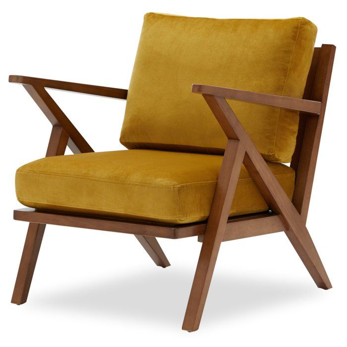 Velvet Mid Century Accent Chair By Drew Barrymore Flower
