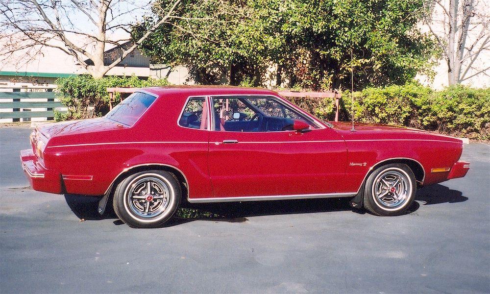 Dark Red 75 Mustang Ii Mustang Ii Mustang Ford Mustang Shelby Cobra