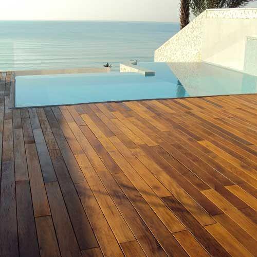 Madera de teka para exterior terrazas pinterest madera tarimas y suelos - Porcelanico imitacion madera exterior ...