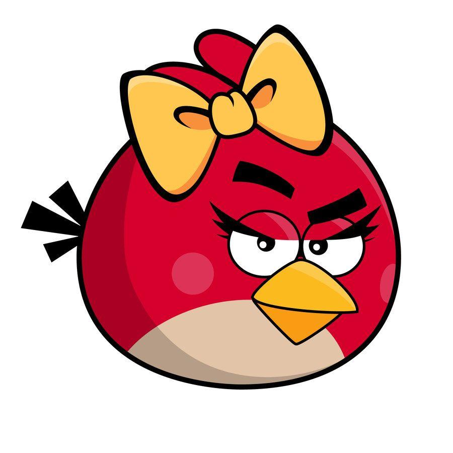 Девушка angry birds