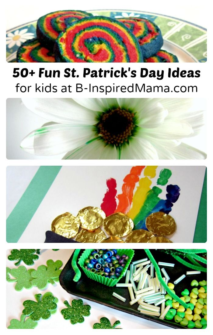 Over 50 Fun Ideas for St. Patrick's Day for Kids at B-Inspired Mama - #binspiredmama #kids #kbn #stpatricksday