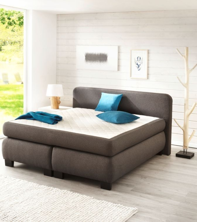 amando boxspringbett grey 140 x 200 cm schlafzimmer pinterest gray. Black Bedroom Furniture Sets. Home Design Ideas