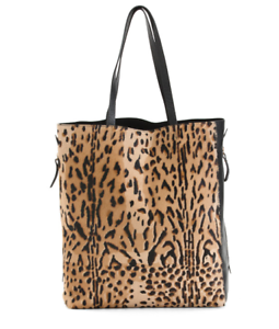 IACUCCI Made In Italy Leopard Leather Haircalf Tote Handbag Free Shipping  NWT  2316eaa5002b0