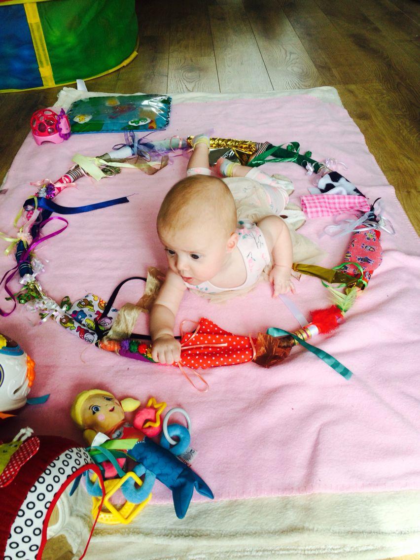 Sensory hoop DIY baby | Baby Motorik Spielzeug