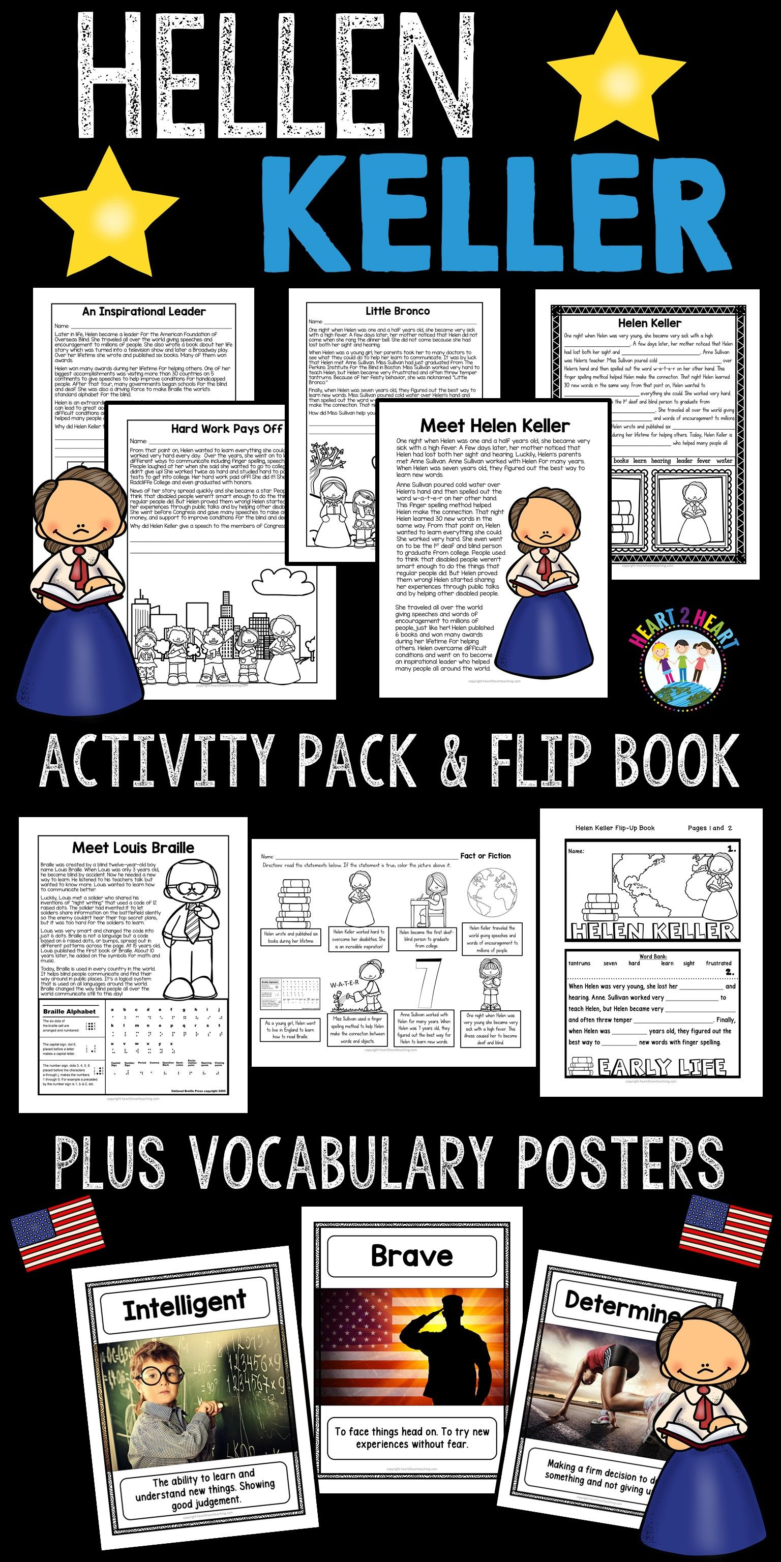 Helen Keller Biography Unit W Articles Activities Amp Flip