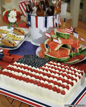 Flag Sheet Cake 4th Of July Desserts 4th Of July Cake American Flag Cake