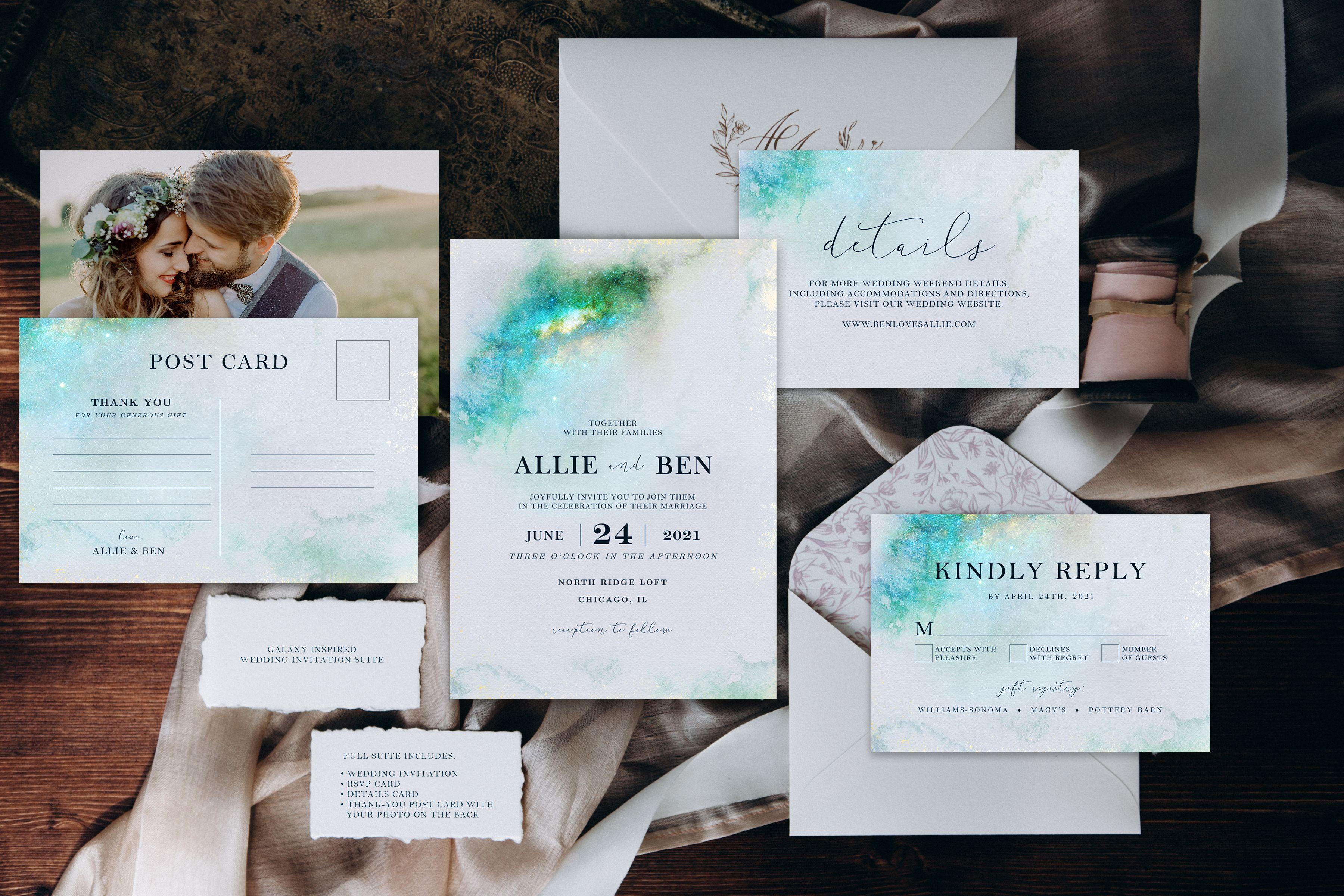 Galaxy Inspired Wedding Invitation Suite (Printable) | Invitation ...