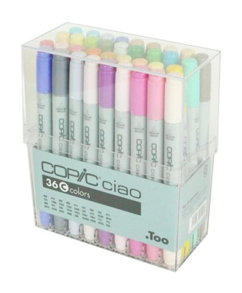 Details About Too Copic Ciao Marker 36 Colors C Set New From Japan