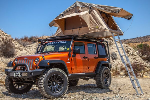 Smittybilt Overlander Tent - Overlander Rooftop Tent for Jeep Wrangler & Smittybilt Overlander Tent - Overlander Rooftop Tent for Jeep ...